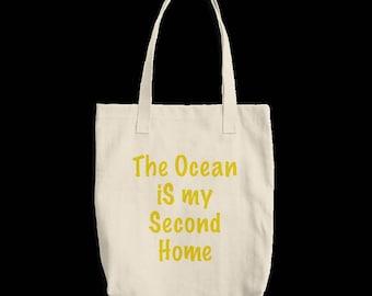 Canvas Tote Bag - OCEAN IS HOME