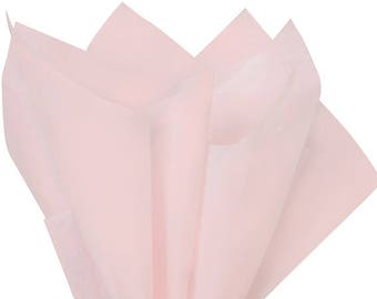 Pink  Tissue Paper, 10 sheets, Solid Pink Rose , Blush Pink Tissue Paper