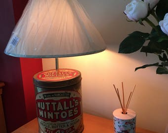A Vintage Tin Table Lamp