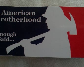 American Brotherhood Decal (4x2)