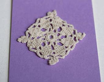 Hand Crocheted Lace Square