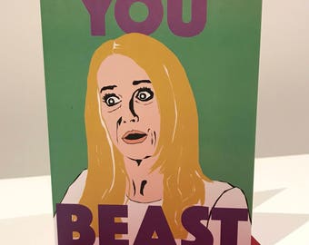 Real Housewives of Beverly Hills Kim Richards Beast Card - RHOBH Greeting Card