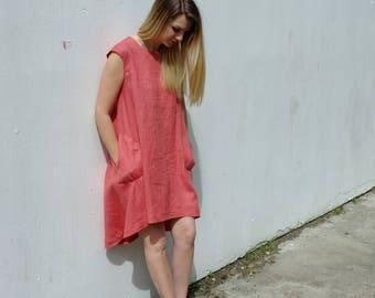 Handmade linen dress, tunic dress, tunic, linen dress, boho dress