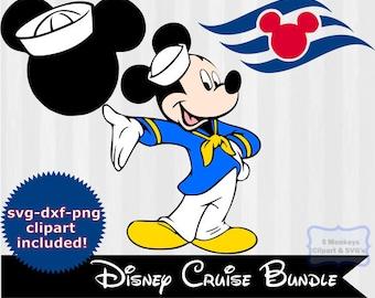 Disney Cruise svg, Sailor Mickey Mouse SVG, svg cutting file, Disney Cruise clipart, Silhouette Cameo, cricut, family vacation, cruise ship