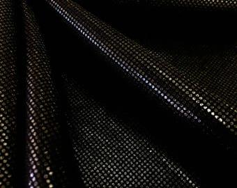 Hologram black  4 way Stretch Nylon Lycra Spandex fabric By Yard