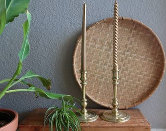 Colonial Willamsburg Brass Candlesticks, Candle Holder, Gold