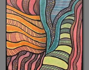 Abstract Painting Original Art - V