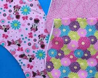 Pink Burp Cloths Set of 3