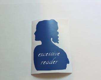 Pride and Prejudice Decal, Jane Austen Decal, Book Nerd Laptop Sticker, Literary Laptop Sticker