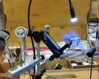 Fly Tying VIse Ultra LED Light & Tool Holder