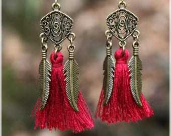 """O tassels"" earrings"