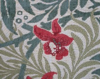 William Morris Larkspur Tapestry Fabric Remnant 19 x 140 cm