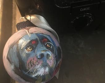 Rottweiler Christmas Ornament hand painted