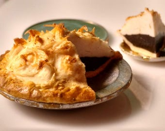 Chocolate Meringue Pie 1:12 scale