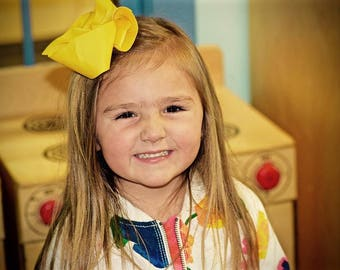 6 inch Yellow Hairbow
