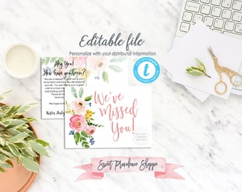 Essential Oil Follow Up Postcard, Network Marketing Follow up, Personalized business printable, Templett, EDITABLE, Instant Download
