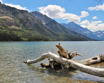 """Western Canada Photography - Waterton National Park Wall Art - Canadian Lake Home Decor - Landscape Photography - """"Glimpse Into Inspiration"""""""