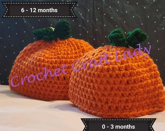 Pumpkin Hats - various sizes