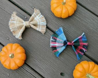 Plaid Obsessed Bow Pack- bows, plaid, flannel, baby girl, toddler girl, hair accessories