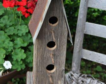 Tall Primitive Birdhouse