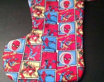 Large Christmas Stocking Spiderman #2