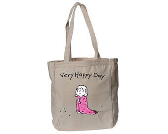 Girl Canvas Book Tote