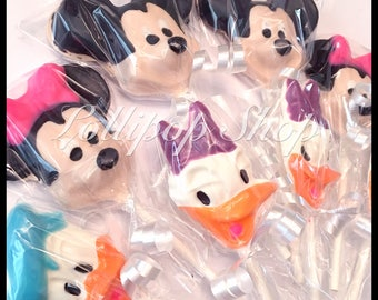 12 Mickey Mouse Clubhouse Chocolate lollipops (Birthday, Party favors, Mickey Mouse)
