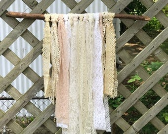 Soft lace wall hanging