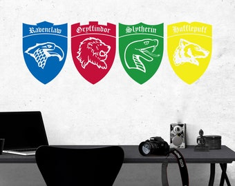 Harry Potter House Crests Wall Sticker Vinyl Decal