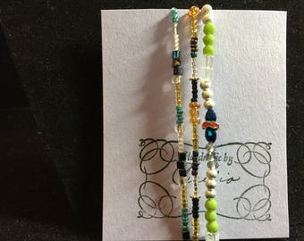Beaded bracelet set of colorful