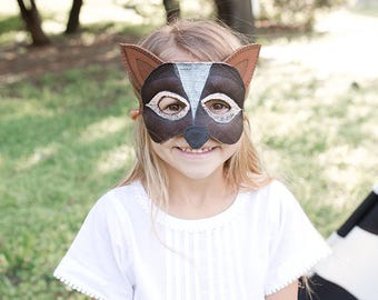 Decorative Leather Fox Mask