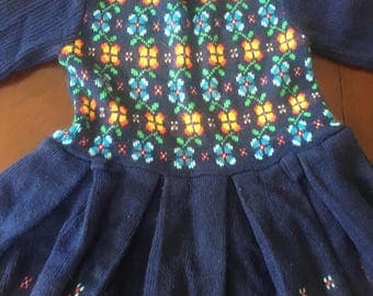 Vintage Girl's Sweater Dress 2T/ 3T