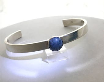 Denim Lapis Cuff