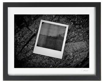 Polaroid Developing A4 Fine Art Print Framed