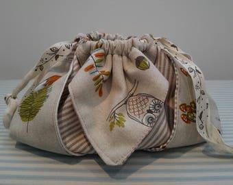 Origami  Bag, make-up bag, key bag