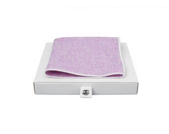 de MORÉ - pink handkerchief with white border
