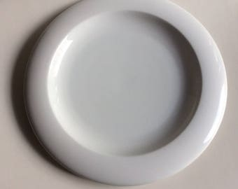 UFO White Porcelain Platter | Ranmaru | Japan | Vintage