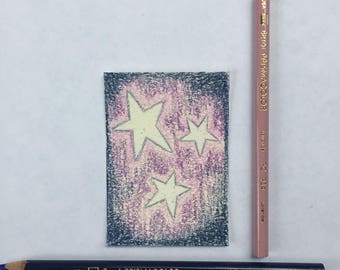 Original Art Card - Shimmer and Stars