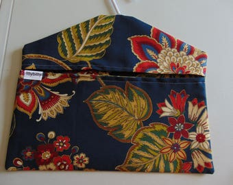 Clothespin Bag -- Navy/red