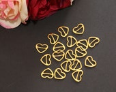 "1, 2, 4, 6 or 10 sets 1/2"" (12mm) Gold Sliders Heart shape Bra making"