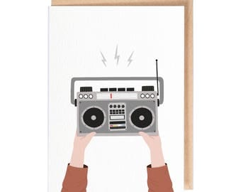 Boom box - Greeting card - folio - thisisfolio - say anything