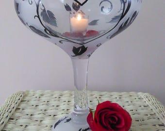 Retro Champagne glass centerpiece