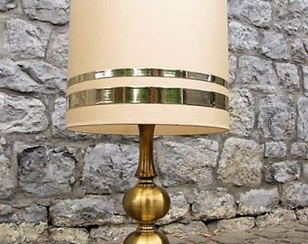 Vintage circa 1970 brass lamp.