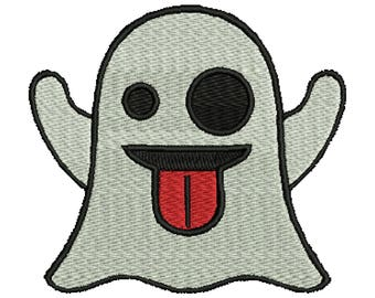 """Iron On """"Ghost Emoticon"""" Patch"""