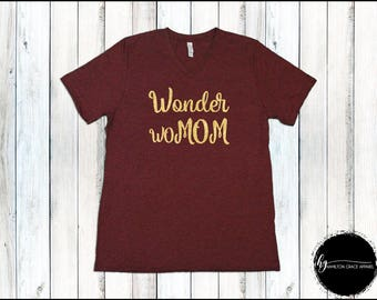 Wonder WoMom Shirt Mom Shirt Gift for Mom New Mom Shirt New Mommy Shirt Trendy Mama Shirt New Mom Gift Gift for Mom