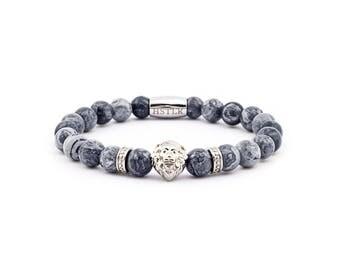 Lion bracelet, bracelet, bracelet, Lion, Jasper gems