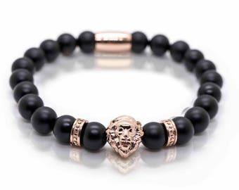Onyx Lion Rosegold bracelet