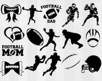 Football SVG Bundle, Football clipart, Football cut files, football svg, svg files for silhouette, files for cricut, cuttable design