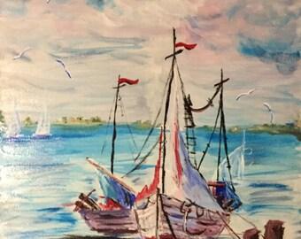 Sail Boat Painting (24 X 36)