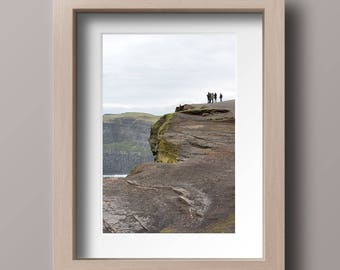 Ireland Cliffs of Moher Photography Print. Oversized Art Print.